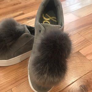 Sam Edelman grey Pom Pom sneakers